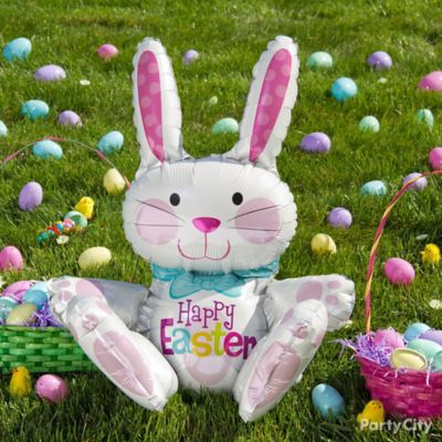 Balloon Easter Bunny Egg Hunt Idea