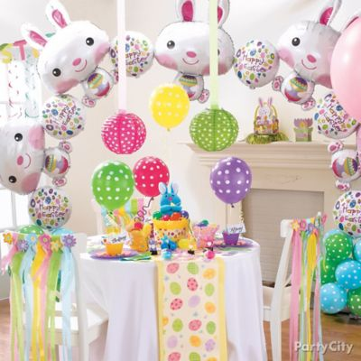 Easter Bunny Balloon Arch Idea
