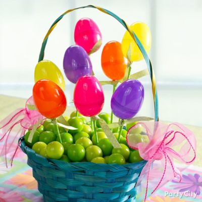 Gumballs and Eggs Easter Basket Idea