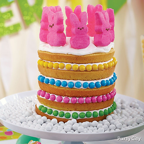 Peeps Bunny Easter Cake How To
