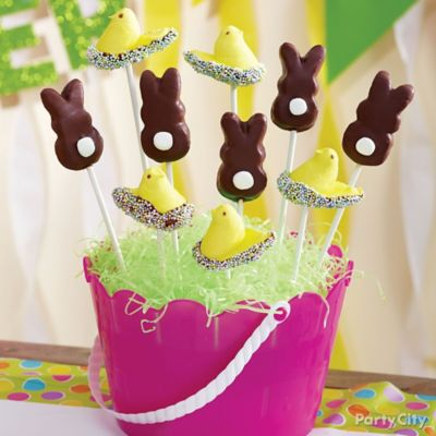 Candy-Dipped Cottontail Peeps Pops How To