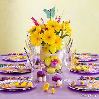 Purple Easter Table Idea