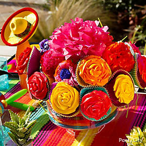 Mexican Party Cupcake Bouquet How To