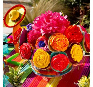 Cupcake Flower Centerpiece Idea