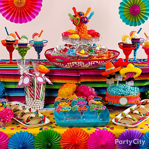 Mexican Party Treats Table Idea