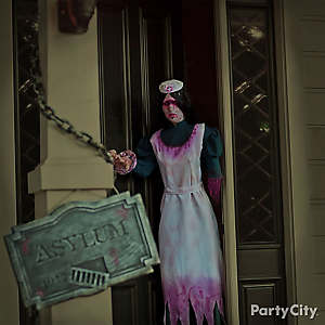 Halloween Asylum Big Bloody Nurse Idea