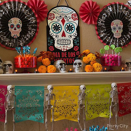 Day of the Dead Sugar Skull Fans & Paper Garland DIY