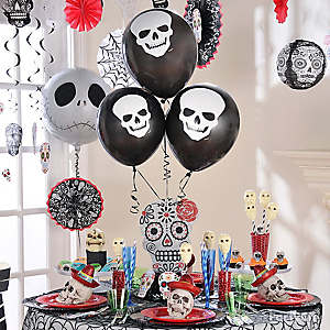 Balloon Skull Centerpiece Idea
