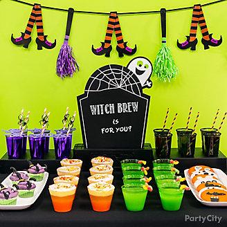 Kid-Friendly Halloween Drinks Table Idea