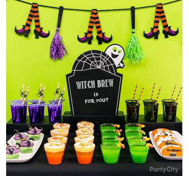 Kid Friendly Halloween Drinks Table Idea
