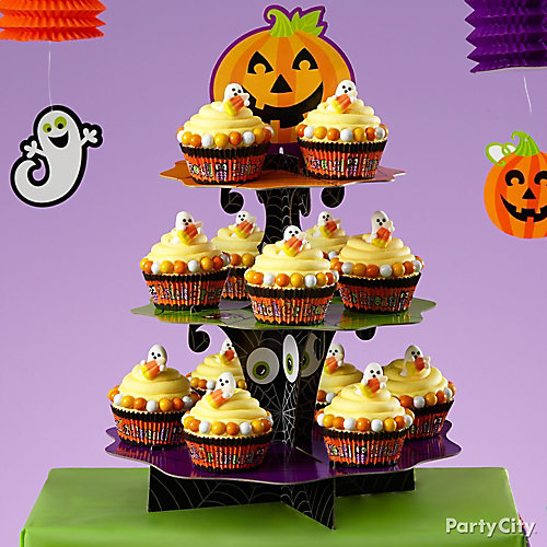 Friendly Candy Corn Ghost Cupcakes How To