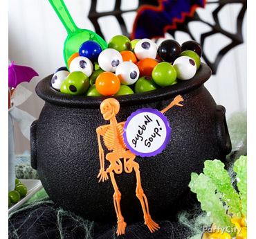 Friendly Gumball Eyeball Cauldron Idea