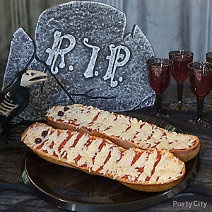 Savory Halloween Mummy French Bread Idea