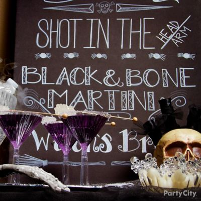 Halloween Cocktails Chalkboard Sign Idea