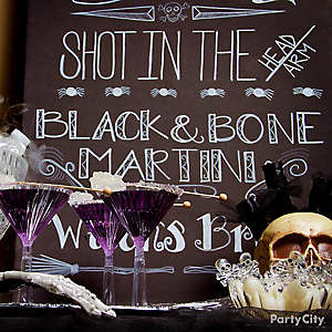 Halloween Cocktails Chalkboard Sign Idea