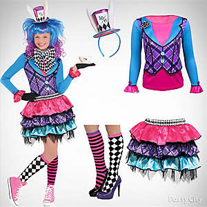 Girls' Mad Hatter Costume Idea