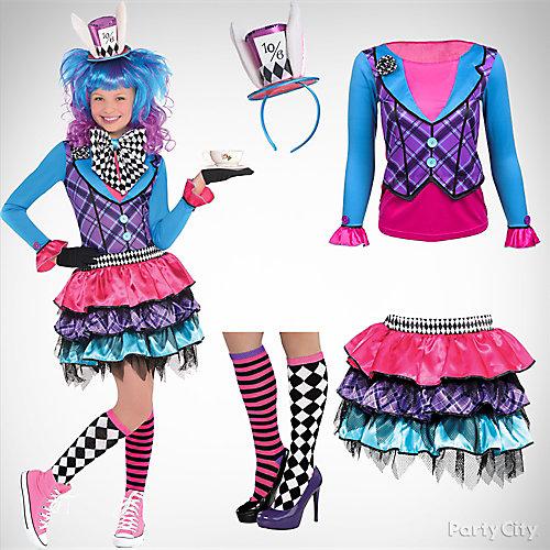 Girls' Mad Hatter Costume Idea