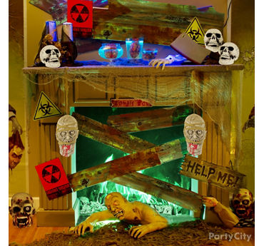 Zombie Infested Mantel Idea