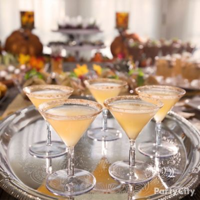Sugar Rimmed Pear Cocktails Recipe