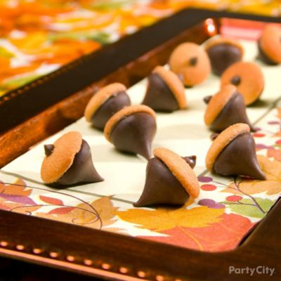 Chocolate Cookie Acorns How To