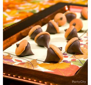 Chocolate Cookie Acorns How To