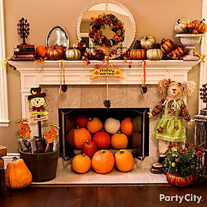 Happy Harvest Mantel Idea