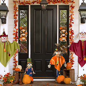 Fall Front Entrance Decorating Idea