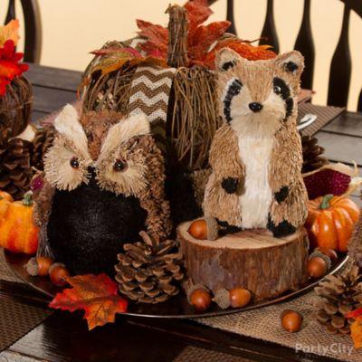 Twig Pumpkin Centerpiece Idea Thanksgiving Rustic