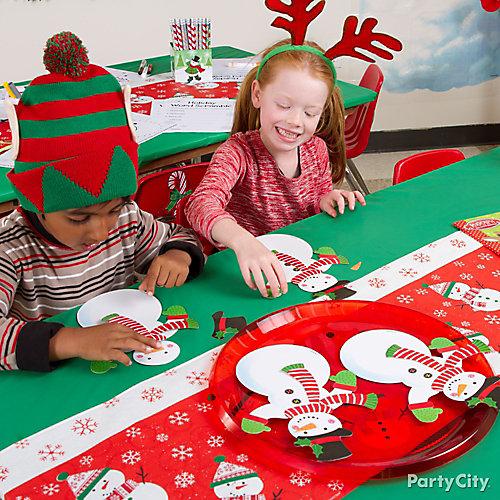 Christmas Kids Snowman Craft Idea