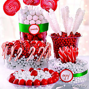 Christmas Candy Buffet Idea