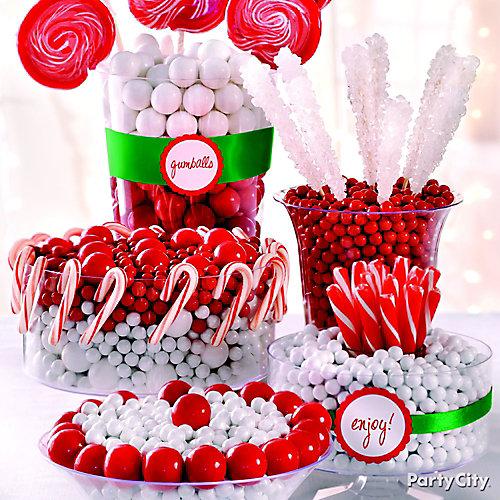 Christmas Candy Buffet Idea