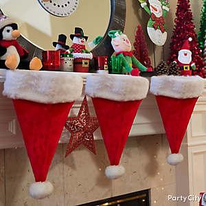 Santa Hat Stockings Idea