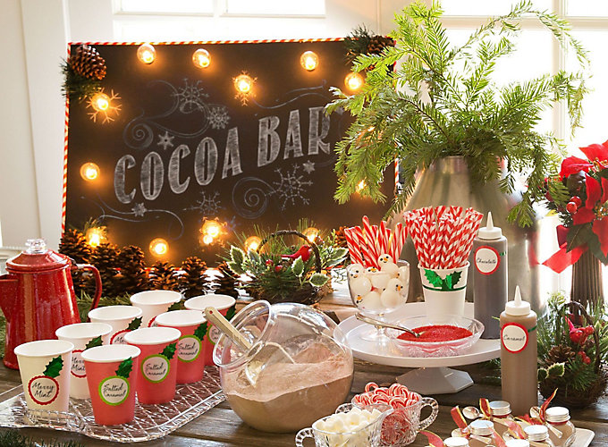 Hot Chocolate Station Ideas & Christmas Party Ideas - Christmas Decoration Ideas - Party City ...