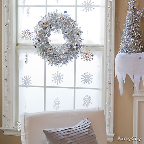 Winter Snowflakes Window Idea