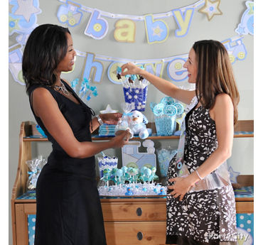 Boy Baby Shower Treats Table Idea