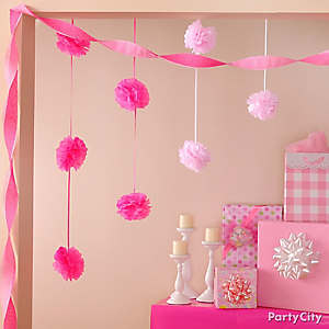 Baby shower decorating ideas party city for Baby shower hall decoration