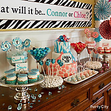 Gender Reveal Treats Table