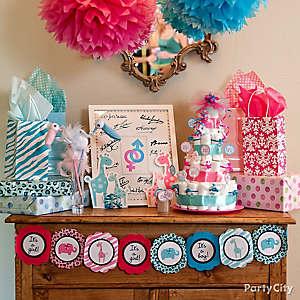 Gender Reveal Gift Station Idea