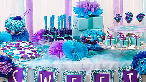 Purple & Blue Candy Buffet Ideas