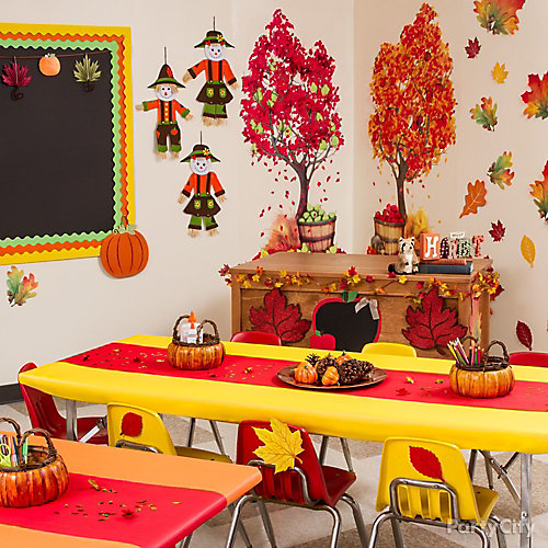 Classroom Decoration Autumn ~ Fall class decorating idea party ideas