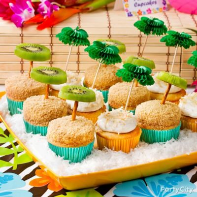 Tropical Palm Tree Cupcakes Idea