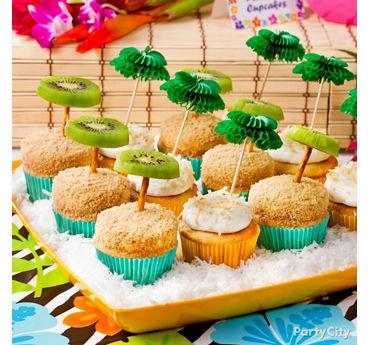 Tropical Palm Tree Cupcakes Idea