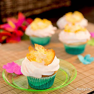 Tropical Pineapple Cupcakes Idea