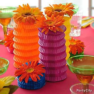 DIY Paper Lantern Pineapple Centerpiece Idea