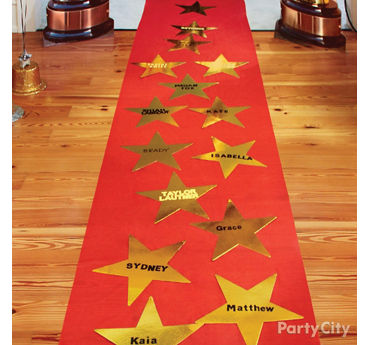 Red Carpet Walk of Fame Idea