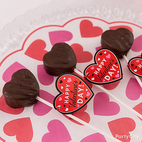 Heart Brownie Pop Idea
