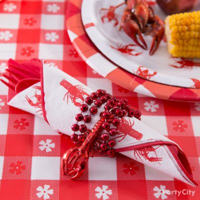 Crawfish Bundled Cutlery Idea