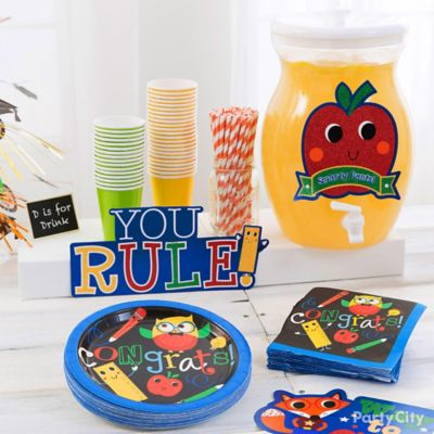 Kids Graduation Fruit Punch Stand Idea