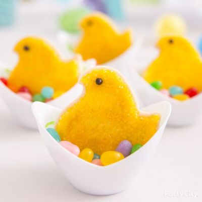 Peeps Chick Cookie Nest Idea