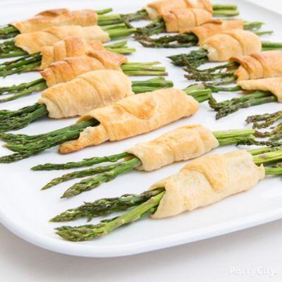 Asparagus Croissants Appetizer Idea